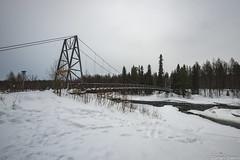 Z19_1256 LT (Zoran Babich) Tags: lapland lappi finland suomi winter snow landscape vikäjärvi bridge