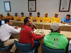 Participamos en la reunión de instalación del Comité regional de incendios forestales de la Costa con la participación de autoridades municipales, estatales y federales en Bahías de Huatulco