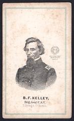 Carte-de-Visite: Civil War Brig. General Benjamin F. Kelley (Ohio County Public Library) Tags: wheelingwv wheeling statehood westvirginia civilwar cartedevisite benjaminfranklinkelley benjaminfkelley briggeneralkelley general bfkelley 1stvirginiainfantry 1stwestvirginiainfantry
