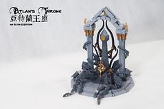 Atlan's-Throne03 (BrickElviN) Tags: lego moc dc aquaman castle ruin throne trident