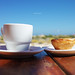 Cafe and Pastéis de Belém at Ilha de Tavira