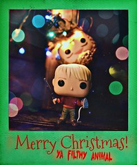 Merry Christmas, ya Filthy Animal! (GothGeekBasterd) Tags: funko pop kevin marv home alone 1990 merry christmas polaroid lights wet bandit