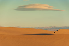 Alien and Spaceship over sand dunes :-) (../murali/) Tags: mesquite flat dunes death valley national park