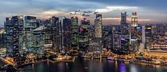 The Skyline of Singapore (funtor) Tags: city night color urban light singapore
