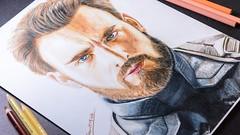 Drawing Captain America (Infinity War) | DrawItMild@YouTube (DrawItMild) Tags: captain america steve roger chris evans marvel avengers infinity war drawing portrait drawitmild