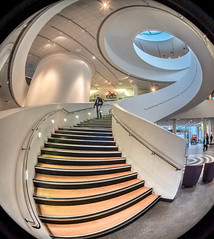 Museum of Liverpool (Liverpool Streeteye) Tags: liverpool albert dock mann island museum city centre staircase fisheye