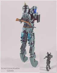The Trench Walker from Iron Harvest 1920 (-=Spectre=-) Tags: suit mech vehicle german trench walker lego 1 war world ww1 history alternate 1920 harvest iron