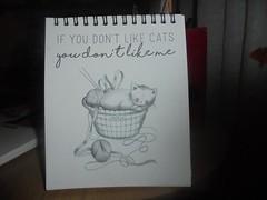 if you don'like cats you don't like me (en-ri) Tags: calendario calendar bianco nero grigio micio kitten rosa gomitolo cestino sony sonysti 2018
