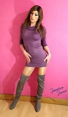 Purple On Pink 💜 (jessicajane9) Tags: tg crossdresser tgurl cd tranny feminised transgender xdress tv m2f feminization transvestite boots crossdress trans crossdressing