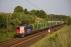 SBB Cargo 421 390 + Hangartner Rostock - Verona  - Ahrensdorf (Rene_Potsdam) Tags: ahrensdorf brandenburg deutschland europa br421 railroad treinen trains trenes züge