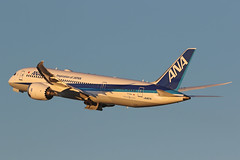 JA807A, Boeing 787-8, All Nippon Airways, Tokyo Haneda (ColinParker777) Tags: boeing 787 788 b787 b788 b7878 7878 dreamliner aircraft airliner airplane plane aeroplane airport fly flying flight aviation spotting photo photography spotters dawn reflections nh ana all nippon airways airlines air tokyo haneda hnd rjtt japan runway canon 7d 7d2 7dmk2 7dmkii 7dii 200400 l lens zoom telephoto pro cockpit sky jet dusk ja807a takeoff climb departure travel 34508 41