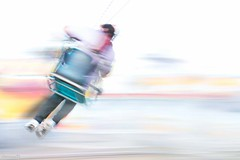 Spin ride - DSC4704-2 (cleansurf2) Tags: spin show ride fair motion color colour cool white bright vivid blur icm panning minimalism minimual sony screensaver australia abstract a7ii arty a7m2 people ilce7m2 urban unusual yellow red aqua blue grey landscape kinetic lines glow fantasy dream dreamscape surreal mood emount