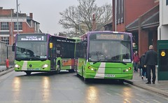 BF65 HVT & PJ53 OLK, Ipswich Buses Citaro 153 and Dart 88, Tower Ramparts Bus Station, 6th. April 2019. (Crewcastrian) Tags: ipswich buses ipswichbuses transport towerramparts busstation mercedes citaro dennisdart eastlancs millenium bf65hvt 153 pj53olk 88