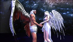 the promise we made (kay_1806) Tags: catwa catwajessicahead angels horns wings white heaven dance desire love light dream secondlife signature skin couple together hair portrait pose photograph you me fantasy female forever tempting