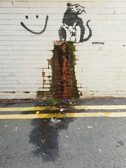 Banksy, Cardiff (DJLeekee) Tags: banksy cardiff streetart graffiti rat peepshow whenfunstops