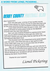 Derby County vs U.S Cremonese - 1992 - Inset Page 2 (The Sky Strikers) Tags: derby county us cremonese the baseball ground ram magazine official match programme 70p angloitalian anglo italian cup