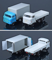 DDR-120-W50s (adrianz toyz) Tags: plastic toy model 1120 scale tt ddr eastgermany adrianztoyz w50 dropside truck box van ifa gdr