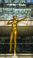 At The Top of Her Game (BenBuildsLego) Tags: bronze sculpture escultura statue diana goddess god pantheon greek roman archer huntress hunter bow arrow metropolitan museum art nyc new york city sony a6000 nude figure woman female figurative gold golden beautiful amazing