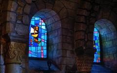 Blue light (mostodol) Tags: blue light lumière bleue bleu église church vitraux morbihan locmariaquer france french bretagne brittany breizh bzh fuji fujifilm xt20