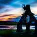 Steam hammer in sunset