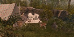 Backwoods (AlyceAdrift) Tags: backwoods holler country camping nature deer bunny chipmunk tree campsite pond tmcreations second life secondlife angelgrove