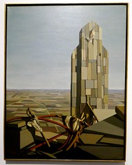 """Men Working,"" Oil on canvas by Kay Sage, Joslyn Art Museum (ali eminov) Tags: omaha nebraska museums joslynartmuseum art artists painters paintings kaysage menworking"