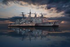 *Destroyer and 2 Cruisers (P.E.T. shots) Tags: usnavy usscharlesfadama ussticonderoga ussyorktown mothballfleet