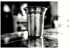 Tumbler (day - today - things ) (Rajavelu1) Tags: tumbler silver blackandwhitephotography bw art creative availablelight dslr bokeh depthoffield blurredbackground thisphotorocks artdigital