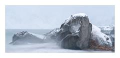 Rocks In Blizzard (W.Utsch) Tags: lofoten norway winter rocks ice blizzard landscape water snow
