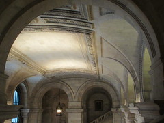 New York Public Library Entrance Hall Lobby 3607 (Brechtbug) Tags: new york public library entrance hall lobby 5th ave facade city interior stairs staircase stone marble 2019 nyc 03122019 art architecture designed by artist sculptor paul wayland bartlett carved the piccirilli brothers was two lions main branch stephen a schwarzman building consolidation astor lenox libraries beaux arts design style