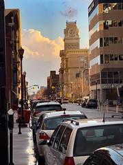 Louisville after the rain (lawyertomkaren) Tags: louisville kentucky downtown main street rainy afternoon spring traffic pedestrians city hall