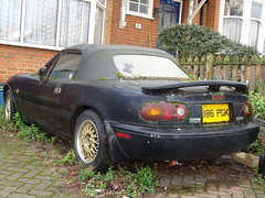 1993 Mazda Eunos Roadster (MX-5) (Neil's classics) Tags: vehicle 1993 mazda eunos roadster mx5 abandoned