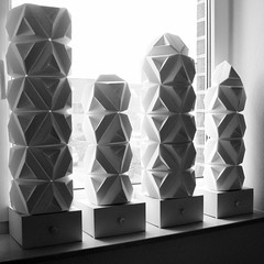 Triamond Lamps - Variations (pia miller) Tags: origami sonobe paperart