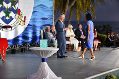 Felicia McLean Walks Forward (Cayman Islands Government Information Services) Tags: royal visit cayman prince wales duchess cornwall pedro st james united kingdom great britain