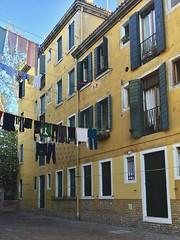 Venice (m4rguerite) Tags: venice venezia italy italia building clothesline colorful windows dailylife laundry venetian