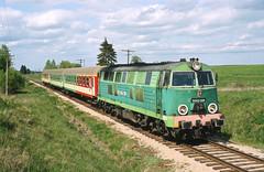 SU45-206 Sangruda/Lithuania (Gridboy56) Tags: pkp pkpintercity poland lithuainia railways railroad trains train locomotive locomotives su45 su45206 p10012 sestokai warsawa sangruda coaches coach