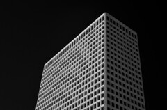 Greenway Plaza Tower (infrared) (dr_marvel) Tags: blackandwhite houston tx texas black clear lines cubes squares