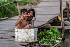 The river boat kids (joshlphotography) Tags: kids khmer boy girl river ferry boat cambodia happyplanet asiafavorites