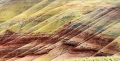 Painted Hills, Oregon (maytag97) Tags: paintedrocksnationalmonument painted hills maytag97 nikon d750 oregon central usa geology colorful day nature monument john dry national color fossil unit red background landscape outdoor park rock scenic scenery america picturesque terrain erosion formations beautiful view beauty clay beds abstract sky grass road soil