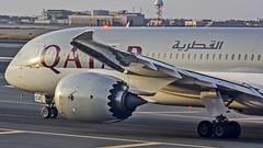 Qatar Airways Boeing B787-8 Dreamliner A7-BCZ Muscat (MCT/OOMS) (Aiel) Tags: qatar qatarairways boeing b787 b7878b7878dreamliner dreamliner a7bcz muscat canon60d tamron70300vc