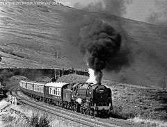 BR Standard Class 7P No 70000 'Britannia' passes Ais Gill Summit on its first First S & C Southbound Special on 7th September 1991 (robinstewart.smith) Tags: br standard 7p britannia sc ais gill 1991