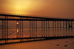 In the solitude of sunrise  -  (Selected by GETTY IMAGES) (DESPITE STRAIGHT LINES) Tags: southend southendonsea southendpier pier sunriseoversouthend sunriseoversouthendpier sunriseoversouthendonsea sunrise sea seaside shore shoreline tide tidal bay beach sand sandy sandyshoreline sky cloud clouds cloudscape morning am firstlight light sunlight thegoldenhour goldenhour magichour themagichour nikon d800 nikond800 nikongp1 nikongps paulwilliams despitestraightlines getty flickr bythesea coast coastline coastal manfrotto serenity manfrottotripod ilobsterit