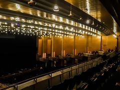in the opera - Fidelio (Fay2603) Tags: opera oper light shadows licht schatten beleuchtung lighting sitzplätze seats reihen rows chairs stuhlreihen orange yellow black schwarz nero noir giallo