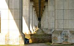 Garage (JDAMI) Tags: amiens glisy lacanardière viaduc julesverne vallée somme étangs piliers béton garage voiture nikon d600 tamron 2470 80 picardie n25 ouvrage architecture france hautsdefrance rocade rocadenord perspective