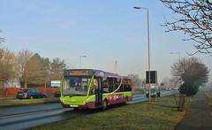 YK08 EPA, Ipswich Buses Optare Versa 145, Heath Road, 22nd. February 2019. (Crewcastrian) Tags: ipswich buses ipswichbuses transport heathroad optareversa yk08epa 145