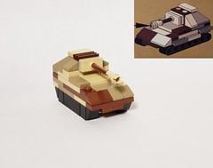 Non-technic micro tank treads (brickhistorian) Tags: technic micro tank tanks treads brick bricks brickmania cheese slope tiger ferdinand build building scale microscale world war two wars lego legos