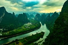 Xingping Karst Mountains (Anderson Porfírio - Fotografia) Tags: mountain mountainrange scenic landscape landscapes scenery river liriver china xingping asia karst karstmountains