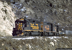 New Year's Eve, 1994 (jamesbelmont) Tags: riogrande drgw dirttrain ut16l pricecanyon lynn emd gp402 gp40 railway