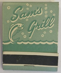 SAM'S GRILL SAN FRANCISCO CALIF (ussiwojima) Tags: samsgrill grill restaurant bar cocktail lounge sanfrancisco california advertising matchbook matchcover