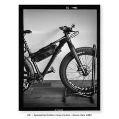 Specialized Fatboy Comp Carbon (Godfrey DiGiorgi) Tags: fujigs645s hp5 bicycle bw filmlab firstroll ride scan testing santaclara california usa